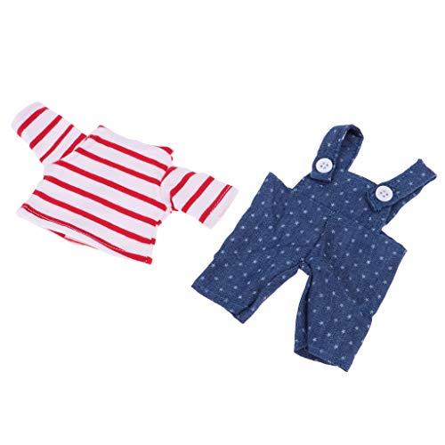 SM SunniMix Puppe Strampler Overall Kleid Mantel Puppenkleidung Puppenkleider für 25cm Mellchan Babypuppe - # 11
