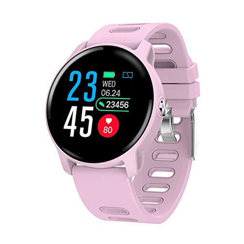 DZX Nueva Ritmo cardíaco S08 y medición de la presión Arterial Smart Watch Smart Watch Smart, Adecuado para Mujeres y Masculinas,B