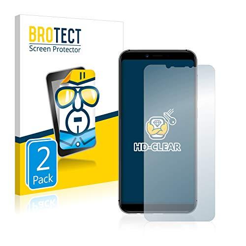 BROTECT Schutzfolie kompatibel mit Umidigi A3 (2 Stück) klare Bildschirmschutz-Folie