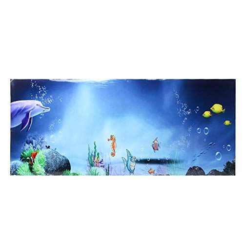 Mit Kleber auf einer Seite Aquarium Poster für Aquarium Dekoration(61 * 30cm)