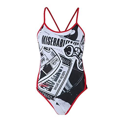 ZAOSU Damen Schwimmanzug Urban Art | Sport Badeanzug für das Schwimm Training, Größe:40