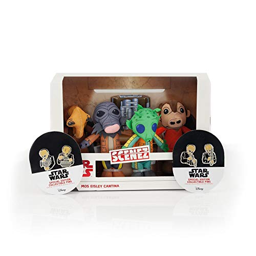 Toynk Star Wars Exclusive Mos Eisley's Cantina Villains Plush & Enamel Pin Set