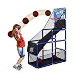 Atezch Kids Basketball Hoop Arcade Board Game Toy, Outdoor/Indoor Basketball Hoop Shooting Training with Basketball for Boys Gift(Ship from US!!!)