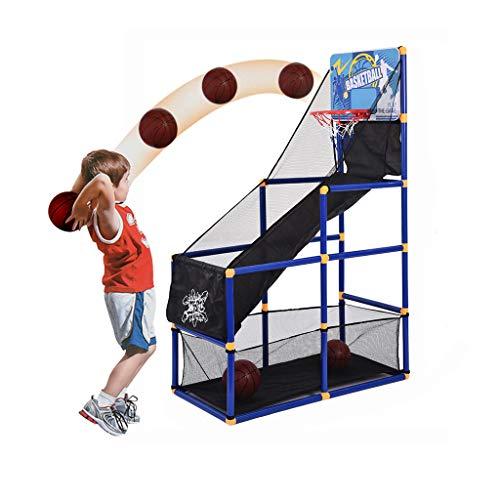 VEZARON Kids Basketball Hoop Arcade Board Game Toy with Decent Gift Box - Toddler Toys Outdoor/Indoor Basketball Hoop Shooting Training System with Basketball for Boy Girl Gift (Multi)