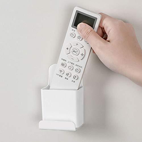 joyjorya Soporte para mando a distancia de TV, montaje en pared, organizador de mando a distancia, color blanco, juego de 2