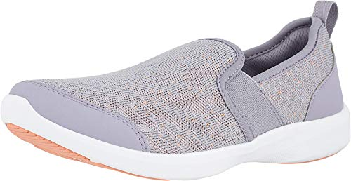 Vionic Women's Sky Roza Slip-on Sneakers - Ladies Walking Shoes with Concealed Orthotic Arch Support Lavender 9 M US