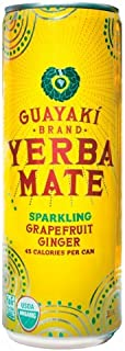 Organic Yerba Mate, Sparkling Grapefruit Ginger, 12 Ounce (pack Of 12)