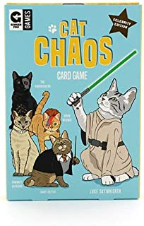Ginger Fox Cat Chaos Card Swapping Game Includes 25 Hilarious Cat Celebrities - Suitable for 2 Or More Players