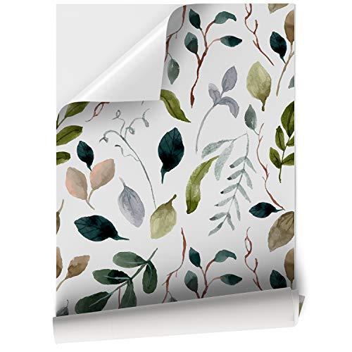 VNL-M-001 Enredadera Negra y Fondo Blanco DON LETRA Papel Vinilo Adhesivo para Muebles 45cm x 200//500cm