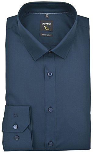 OLYMP Herrenhemd No6 six, super slim, Urban Kent, Marine, Gr. 39