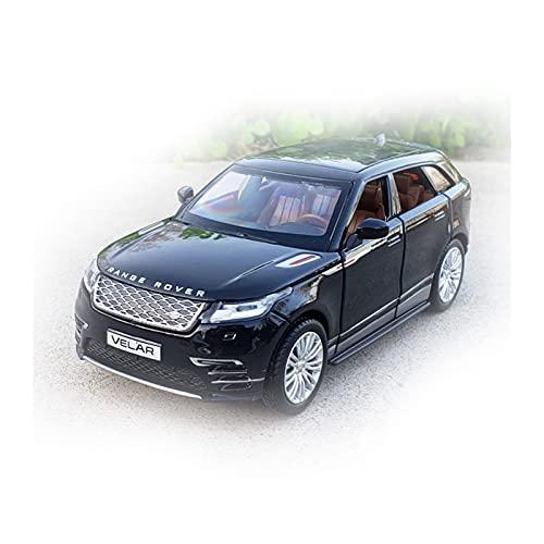 1:32 Escala Diecast Aleación Metal Lujo SUV Modelo De Coche para Range Rover Velar Colección Todoterreno Modelo De Vehículo Sonido Y Luz Juguetes Coche Colección (Color : Negro, Size : B)
