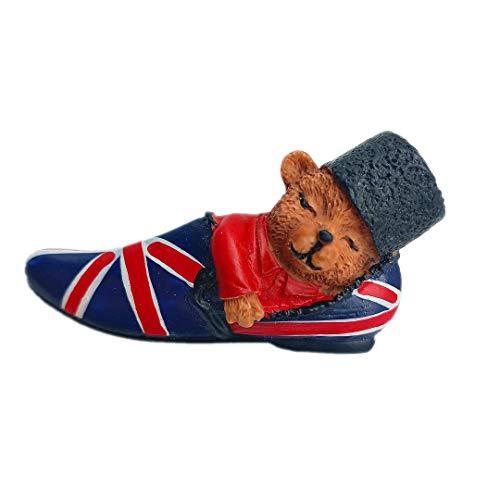 Paddington Bear Nationalflagge UK England 3D Kühlschrank Kühlschrankmagnet Travel City Souvenir Collection Küche Dekoration Whiteboard Aufkleber Harz