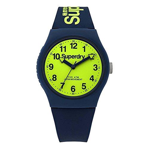 Superdry Reloj Analógico de Cuarzo para Hombre con Correa de Silicona – SYG164UN
