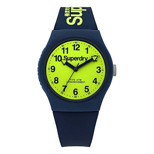 Superdry Unisex-Adult Analogue Quartz Watch with Silicone...