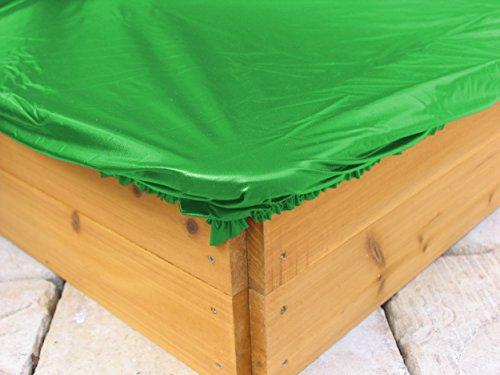 GraSEKAMP kwaliteit sinds 1972 zandbakafdekking zeil voor zandbak hoekig 110-130 cm PE groen