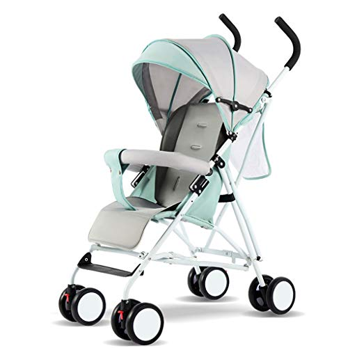 Lightweight Folding Shock-Proof Sitting Baby Stroller with 4 Wheels Absorber Folding Baby Carriage Baby Pushchairs