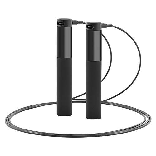 LEFUYAN Corda inteligente com análise de dados de aplicativos, cabo de silicone recarregável por USB, com visor de LED HD para fitness, ajustável para homens e mulheres, exercícios de boxe