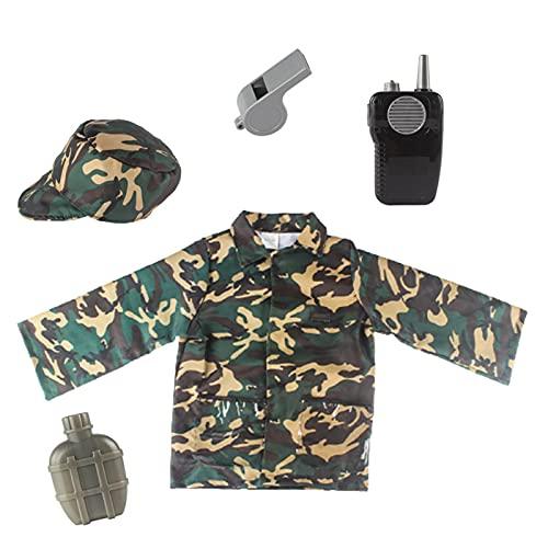 Disfraz De Ejército Para Niños Disfraz De Soldados Traje Para Niños Ropa Del Ejército Conjunto De Disfraces De Soldados Realistas Cosplay De Soldado De Confort Para Niños Con Un Tamaño De 100-