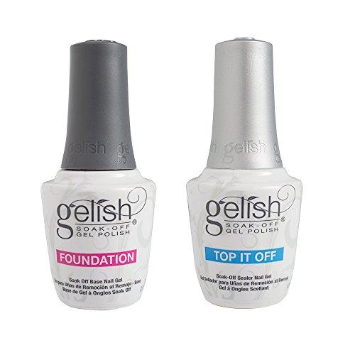 Duo Pack Top It Off Foundation Base Gel Nail Harmony Gelish Uv Soak Off Gel by Gelish