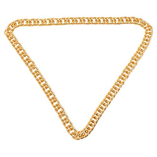 Holibanna Cadenas de Hip Hop para Hombres Oro Elegante Collar de Hip-Hop Aluminio 1. 5 Cm 80 Cm de Ancho Cadena Gruesa de Hip Hop Gótico para Hombres Mujeres Decoración de La Joyería