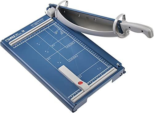 Dahle Premium Guillotine Trimmers, 14-1/8' - 27.5' Cutting Lengths, 35-40 Sheet Capacities, Self-Sharpening Blade, Automatic Clamp, w/Safety Guard