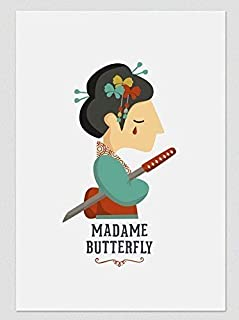 """Stampa"""" Madame Butterfly."""" Disponibile in due misure: A4 / A3"""