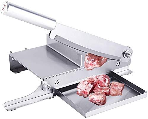 TTLIFE 9.5 pulgadas Cortadora manual de costillas, cortadora de carne de acero inoxidable para el hogar con sacapuntas, cortadora de alimentos vegetales para cocinar en casa, cortadora de huesos