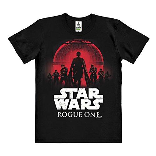 Logoshirt Star Wars - Rogue One Camiseta 100% algodón ecológico (Cultivo ecológico) - Negro - Diseño Original con Licencia, Talla XS