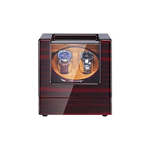 Sunmong Scatola per avvolgitore Automatico per Orologi, Motore Silenzioso con 2 Posizioni dell'avvolgitore, 5 modalità di Rotazione, Scatola espositiva per riporre Oggetti in Finitura Piano in Fibra
