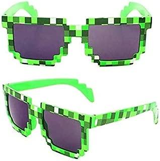 Green Minecraft Creeper of mosaic sunglasses for boys outdoors sunglasses