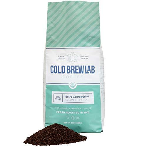 Cold Brew Lab Organic Coarse Ground Coffee, Bold Dark Roast Blend, Colombian Supremo, 2 LB