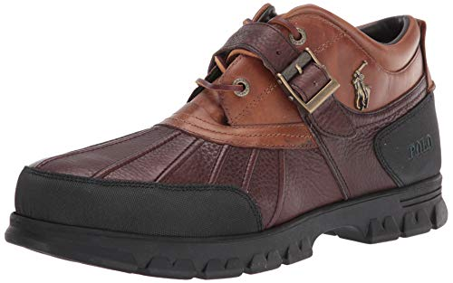 Polo Ralph Lauren Men Rugged Ankle Boot, Briarwood/Tan, 10.5 US