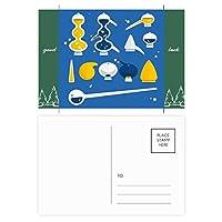 スポイトのゴムのドロッパーの化学 グッドラック・ポストカードセットのカードを郵送側20個