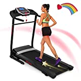 ANCHEER Folding Treadmill with Smartphone Sports APP, 3 Levels Manual Incline, 2.25HP Motor Allows for 0.5-7.5 MPH, 12 Preset Programs, Easy Assembly Exercise Machine for Home Gym Office