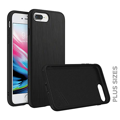 RhinoShield Case compatible with [iPhone 8 Plus/iPhone 7 Plus] | SolidSuit - Shock Absorbent Slim Design Protective Cover [3.5 M / 11ft Drop Protection] - Brushed Steel