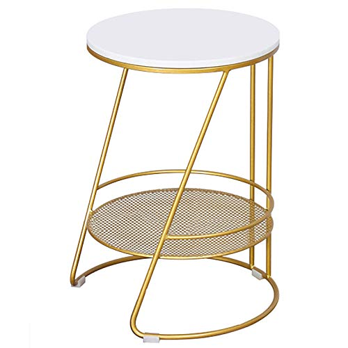 VIY Table Sofa Side End Tables for Living Room, Table Under Mobile Snack Side Table for Coffee Laptop, Bed Table, gold,Gold