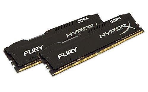 Kingston HX421C14FB2/8 Memoria RAM 8GB, HyperX Fury, DIMM, DDR4-2133Mhz, Class 14, color Negro
