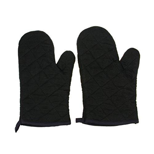 2Pcs Cotton Oven Gloves Best Heat Resistant Kitchen Cooking Glove Microwave Oven Kitchen Heat Resistant Glove Dark
