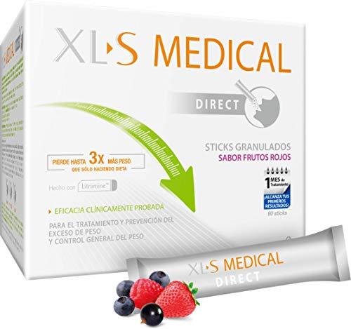 XLS Medical - Captagrasas Direct - Sticks Captagrasas - Tratamiento para Perder Peso con Sabor a Frutos Rojos - Capta 28% de la Grasa Ingerida - 90 Sticks, 1 Mes de Tratamiento