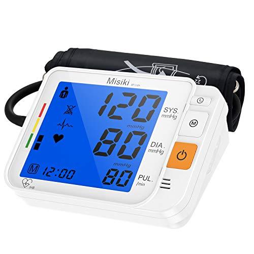 Oberarm-Blutdruckmessgeräte mit Große Manschette, Digitales Automatisches Blutdruckmessgerät Oberarm für Blutdruck und Herzfrequenz, Arrhythmie-Anzeige, Hintergrundbeleuchtung Großes LCD-Display