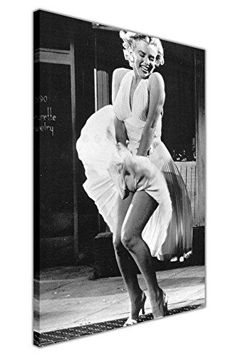 CANVAS IT UP Iconic Marilyn Monroe Subway weiß Rock Foto Shoot Leinwand Prints Art Wand Bilder Raum Décor Hollywood Legends Nostalgie