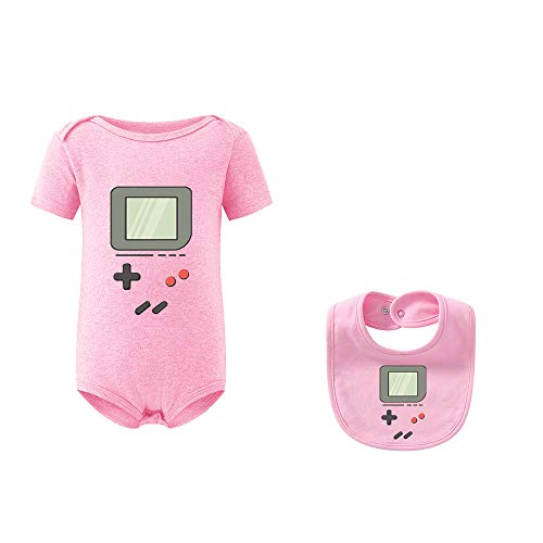 culbutomind Baby Zwilling Body Baby Geschenke Geburt Baby Strampler Zwillings Kleidung(Rosa Game 12M)