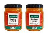 Med Cuisine Harissa Tahini - Pasta De Sésamo Suave Con Un Toque Extra De Chiles Y Especias Seleccionados - Salsa Picante De Tahini Harissa - Vegetariana, Sin OGM Y Sin Gluten (2 Pack)