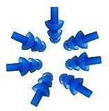 Fletion 5 Paar (10 Stück) Silikon Schwimmen Ohrstöpsel Weiche und Flexible Ohrstöpsel für...