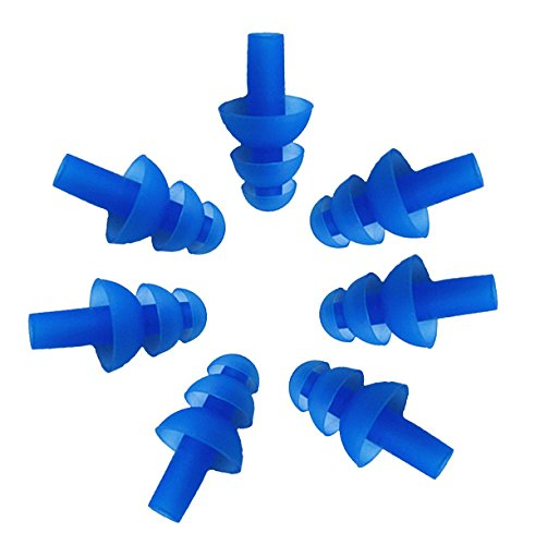 Fletion 5 paia (10 pezzi) silicone Tappi nuotatori...
