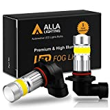 Alla Lighting H10 9145 LED Fog Light Bulb 3000K Amber Yellow 2800 Lumens Xtreme Super Bright CANBUS COB-72 SMD 9140 9155 PY250D Replacement for Cars, Trucks