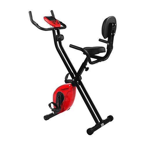 Finether Cyclette Magnetica Trainer da Casa F-Bike con Sensori delle Pulsazioni, Ripiegabile