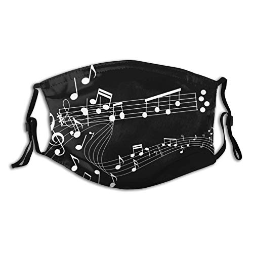 Music Mouth Cover With Filter Pocket Washable Face Bandanas Dust-Proof Balaclava Reusable