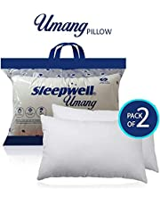 Apurva Interiors Sleepwell Fiber Cotton Single Excellent Comfort and Durable Pillow (17x27 inch, White)