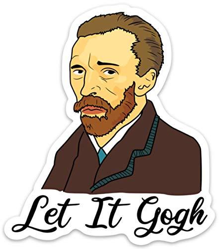 "Stickeroonie Let it Gogh Sticker Decal Funny Waterproof Vinyl Vincent Van Gogh Art for Laptops, Waterbottles, Car 4"" x 3"""
